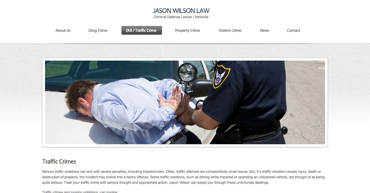 DUI-Traffic-Crime-JASON-WILSON-LAW | NC Legal Marketing